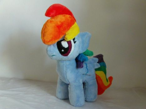 Rainbow Dash Filly Plush by BassPlushProductions