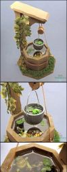 1:12 Dollhouse Scale Miniature Well Pond by PepperTreeArt