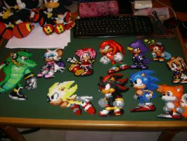 Sonic Hama Beads Collection by 7marichan7