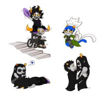 Homestuck: Trolls everywhere by Biigurutwin