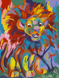 Simba Coloring Page by AClockworkKitten