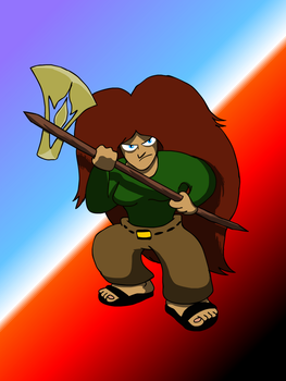 Susan with Battleaxe by RoughSketch897