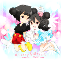 Mickey and Minnie by MikiClover