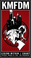 KMFDM 2013 Gig Poster - Philly Makes you Crazy by luvataciousskull