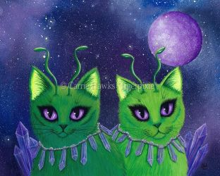 Alien Cats by tigerpixieart
