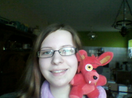 Me and Plush Foxy by Orez-Suke