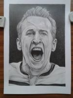 Portrait of Harry Kane by davidsteeleartworks