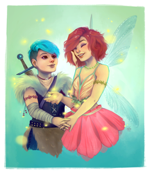 Commission: Fantasy couple by Avvoula