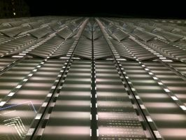 One World Trade Center Base Panels at night by towerpower123