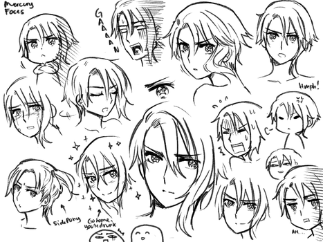 Mercury Faces by Cioccolatodorima
