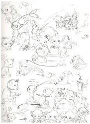 Olimar and the Tailmin doodles by 024Caitlyn