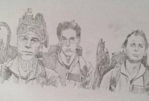 Three Ghostbusters by mpatterson1979