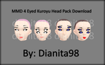 MMD 4 Eyed Kuroyu Head Download by dianita98
