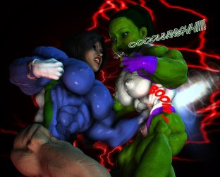 Ardita vs She Hulk - ABS Destroyer by Hellequin11