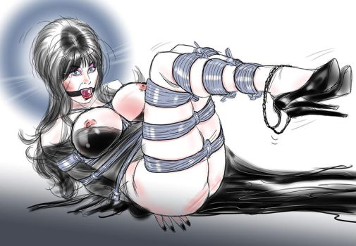 Elvira Captured sketch by frelncer