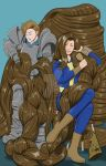 Cornellius and Cheryl in the Wasteland by danielwartist