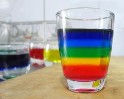 Creating a rainbow in my glass by Maleiva