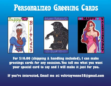 Personalized Greeting Cards by Princess-Tria