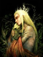 Thranduil and young Legolas by harmonia3784