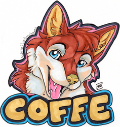Badge - Coffe by HowlingWolfSong