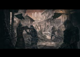 Raid of the village by ortsmor