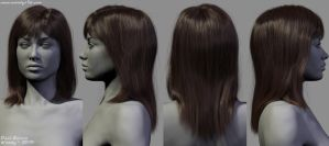 Body Study (Hair) by Woodys3d