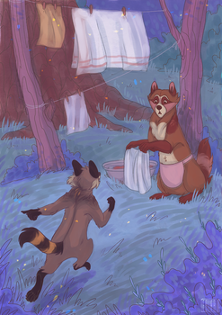 Illustration for the book Little Raccoon #10 by frirro