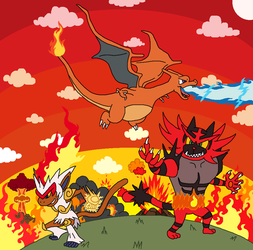 REQUEST - Epic Fire Starters by DarkBrawlerCF1994