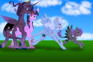 Lunar Sparkle family by MischievousArtist