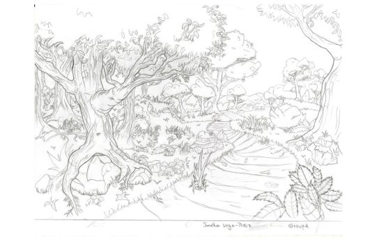 Forest Sketch clean Layout by VenomEXsoldier
