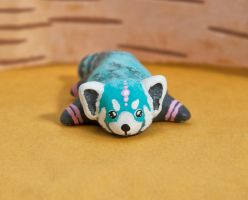 Relaxed blue red panda by lifedancecreations