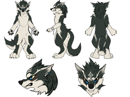 Wolf link fursuit reference by Feonnix