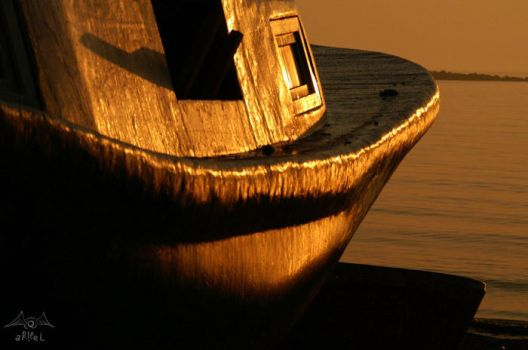 golden boat by aripel