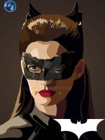 Anne Hathaway as Catwoman by derianl