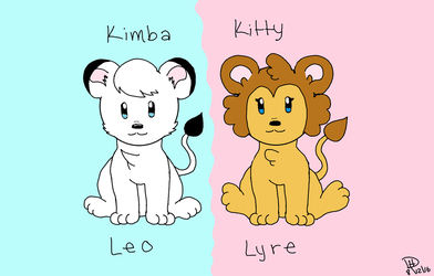 Kimba and Kitty by KyoukoEevee13