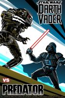 Darth Vader vs Predator - cover by Robert-Shane