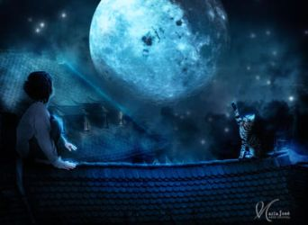 A wish to the moon by Eithen