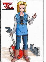 Android 18 by koptea-thai-nawi