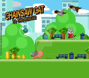 Chainsaw Cat Mousepad by molegato