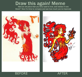 Draw this again! Meme - Fire by camelliane