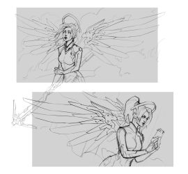 Mercy. Sketches by sashajoe