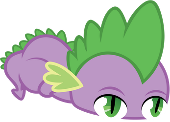 Spike. As a... Monorail thingie. by AxemGR