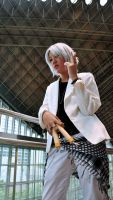 KHR: White Suit ver. Gokudera by Itchy-Hands