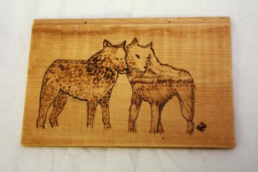 Pyrography Wolves by Itti