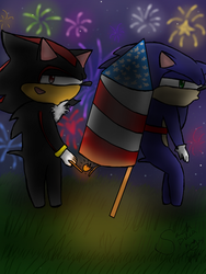Shadow loves fireworks by Sarah-The-Lion-Wolf