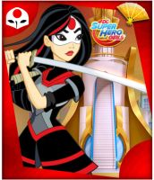 DC Superhero Girls Katana by unicornsmile