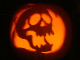 Skull Pumpkin by Sabeku