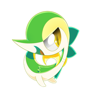 Chibi Snivy by SilviShinyStar