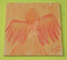 Angel in Orange and Red by Lilain