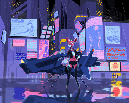 On The Neon Bleat by PhidippusOfMystery